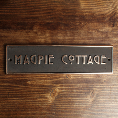Solid Bronze Custom House Sign-Custom made Cast House Signs-Signcast
