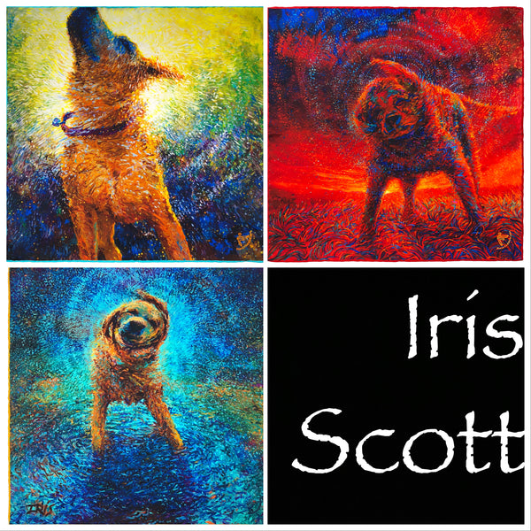 "Set of Three from the Iris Scott ""Shakin' Dogs"" Collection"