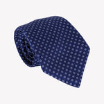 Mini Circles Blue Tie