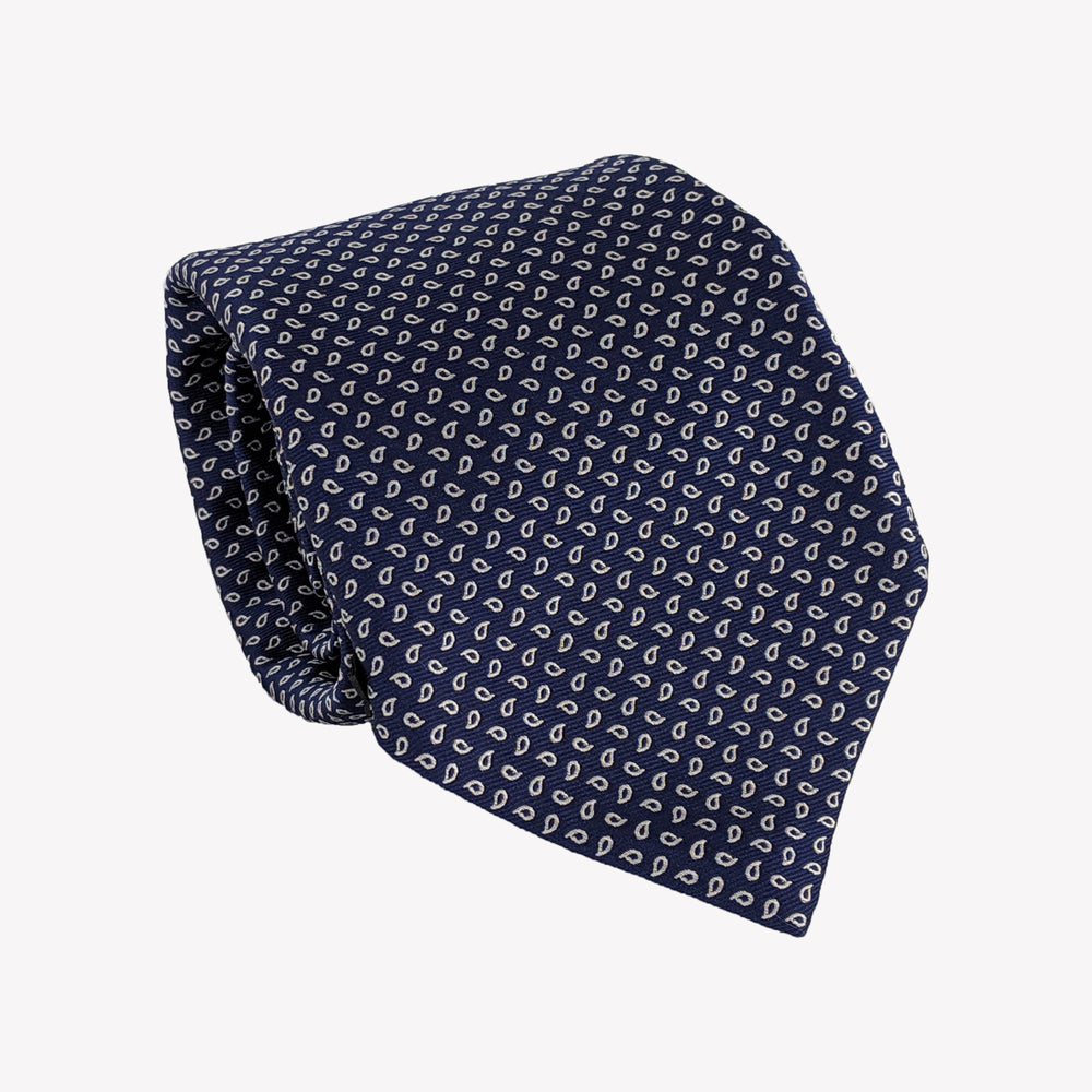 Navy with Leafs Tie