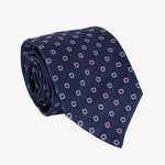 Mid Blue with Red Square Tie