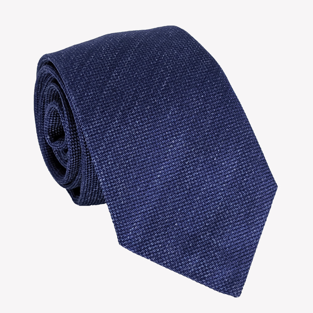 Detailed Navy Blue Tie