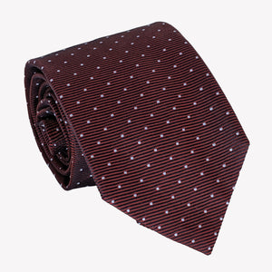 Pin Dot Burgundy Tie
