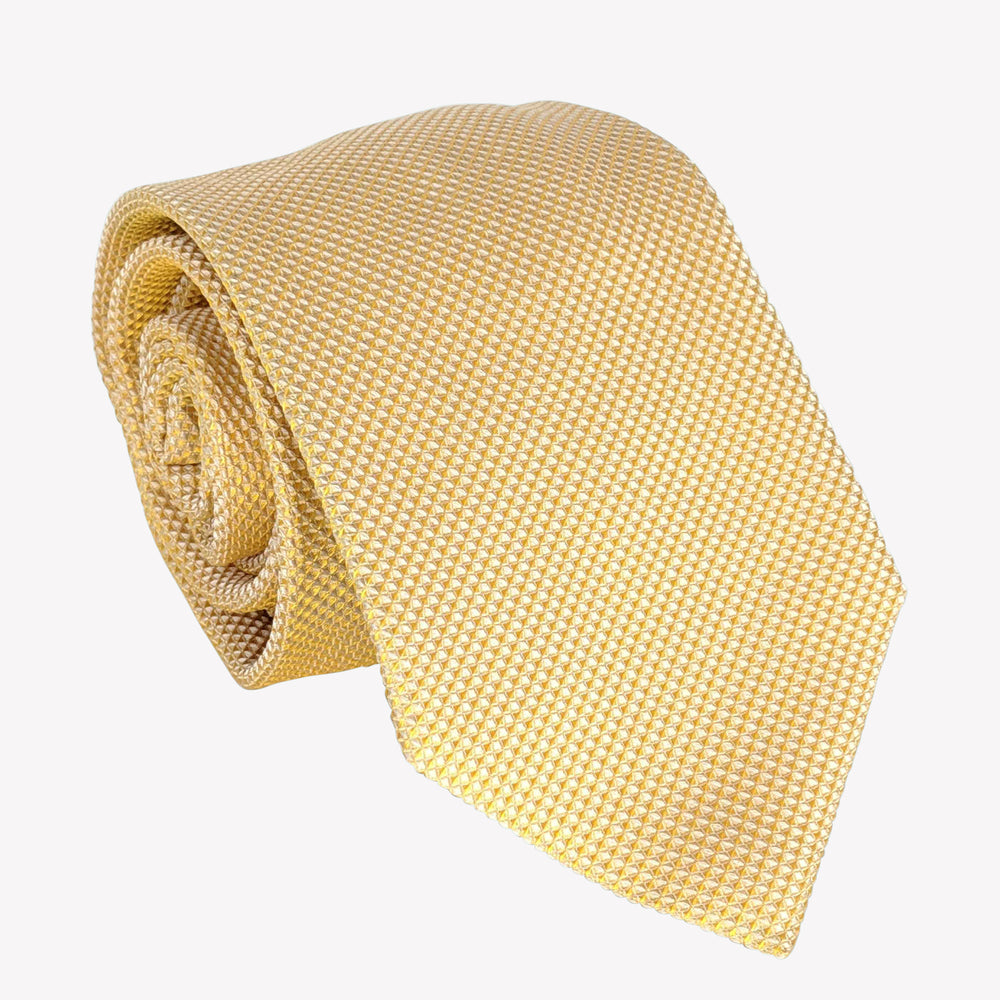 Light Yellow Weave Tie