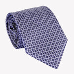 Scalloped Blue Tie