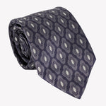 Navy Blue with Diamond Detailing Tie
