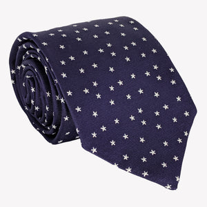 Navy Blue with Stars Tie