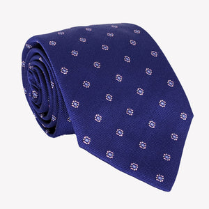 Royal Blue Dotted with Detail Tie