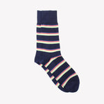 Navy with Stripes Socks