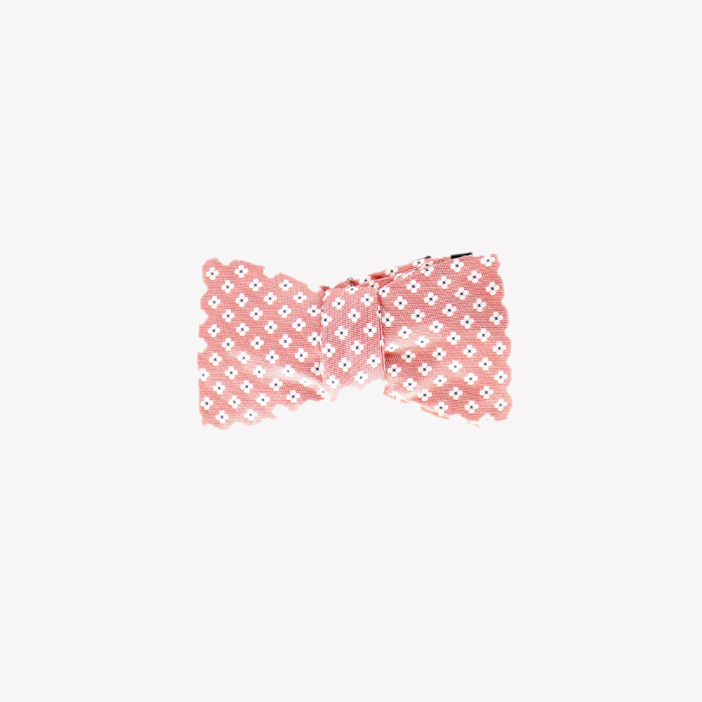 Pink with White Flowers Tie