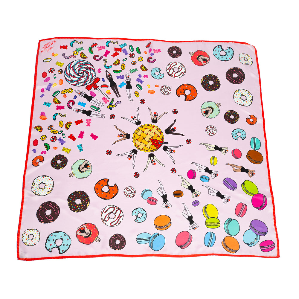 Candy Swim Silk Scarf