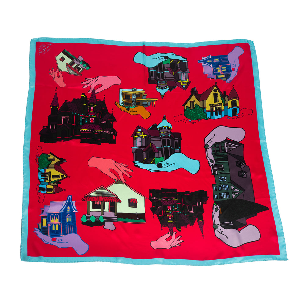 Dollhouse Silk Scarf