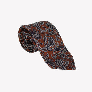Dark Orange with Black Paisley