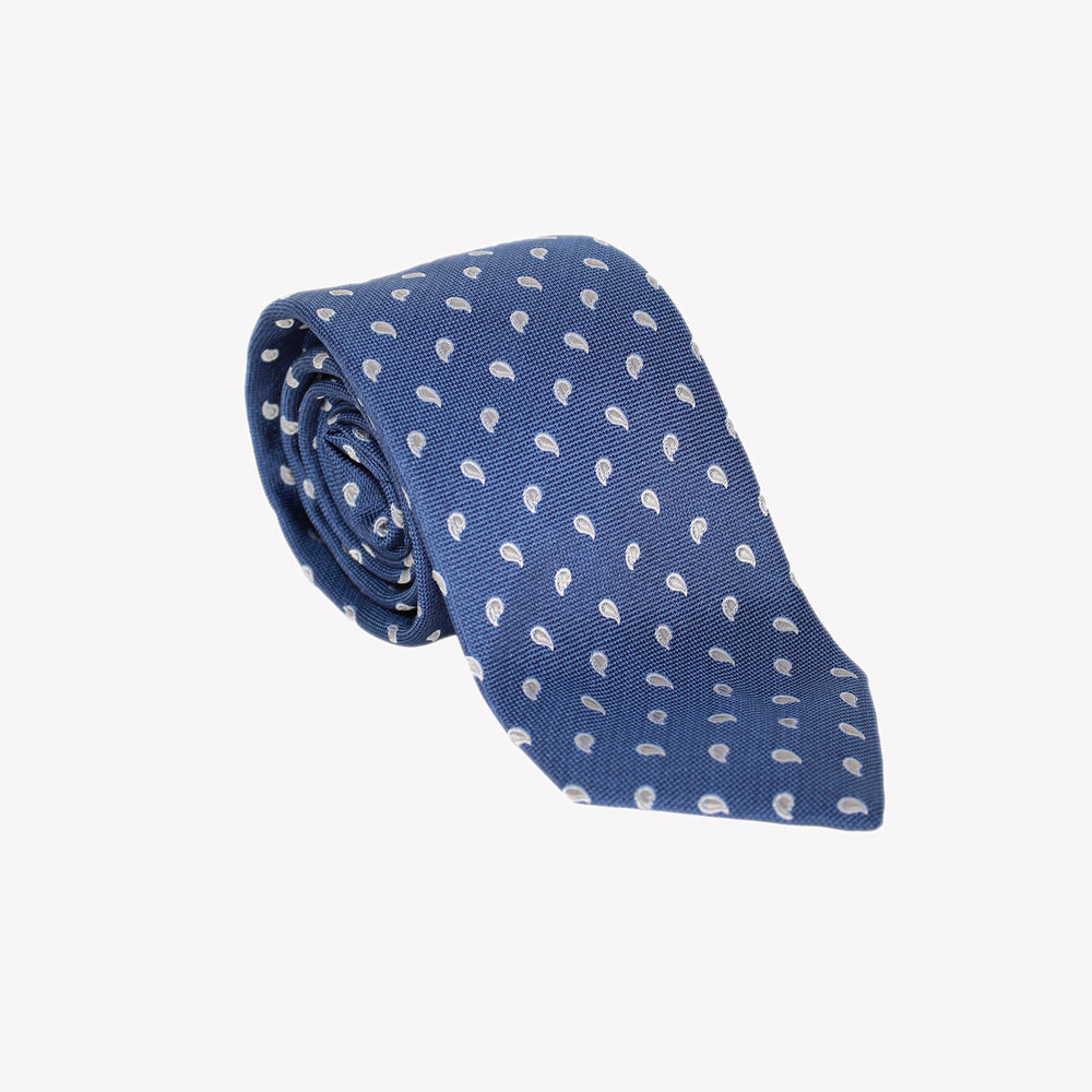 Blue with Paisley Tie
