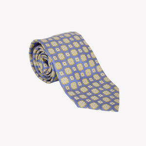 Light Blue with Yellow Squares Tie