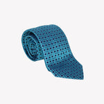 Aqua Blue Layered Weave Tie
