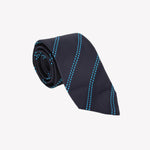 Black with Neon Blue Stripe Tie