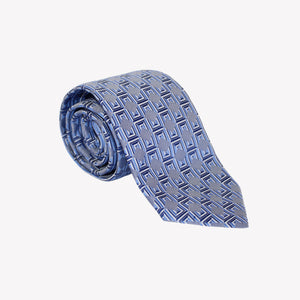 Blue with Square Pattern Tie