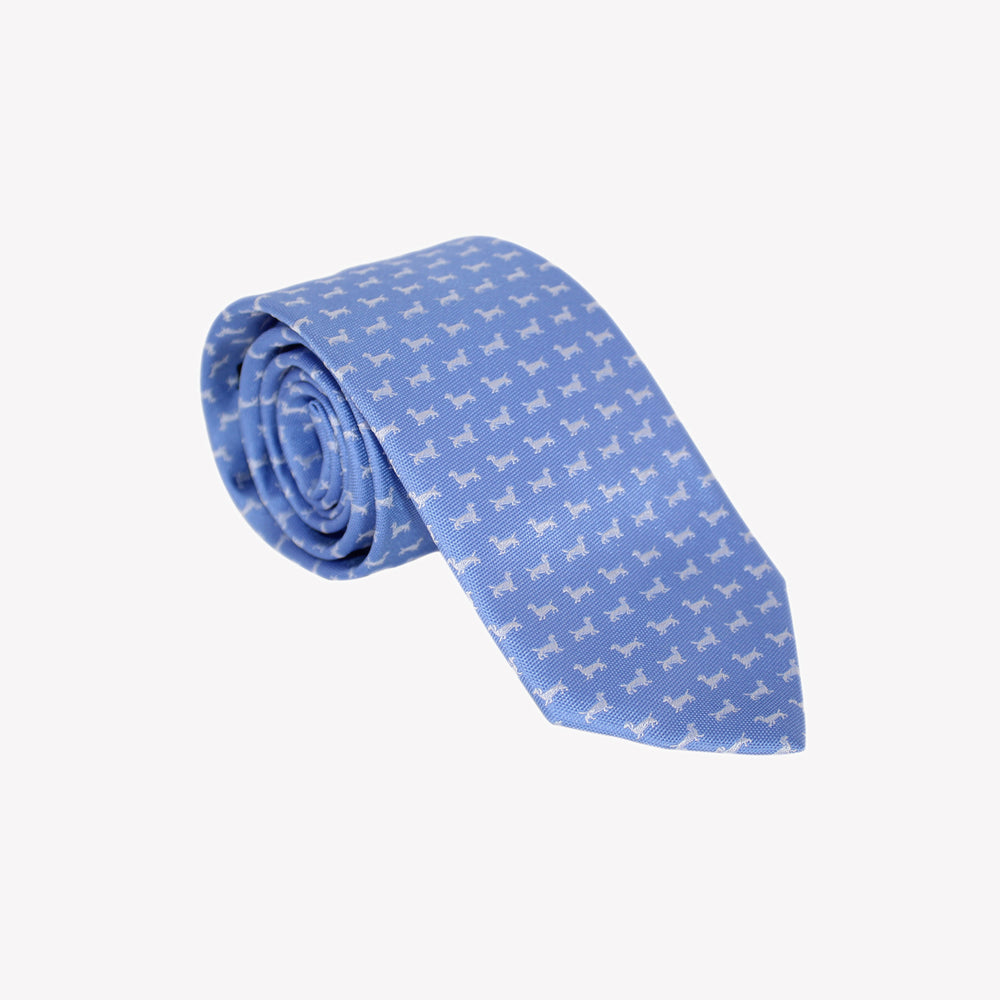 Light Blue with Grey Puppies Tie