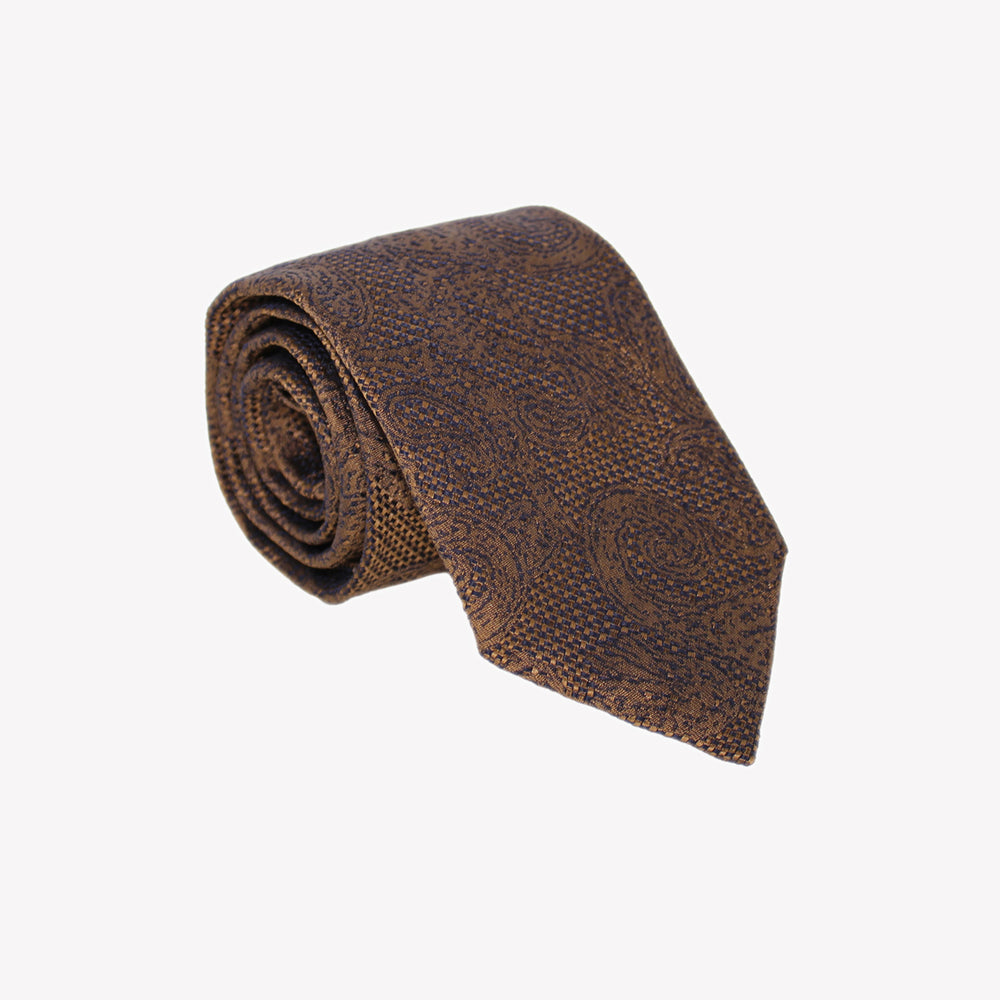 Brown with Paisley Tie