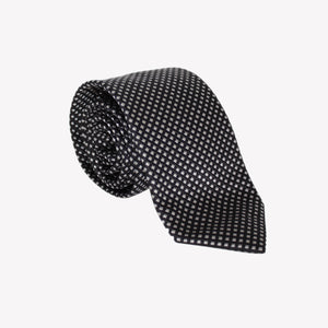 Black with White Squares Tie
