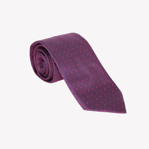 Dark Purple with Pin Dots tie