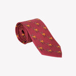 Red with Deer Tie