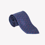 Navy with Red Flowers Tie