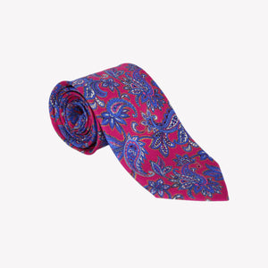 Red with Blue Paisley Tie
