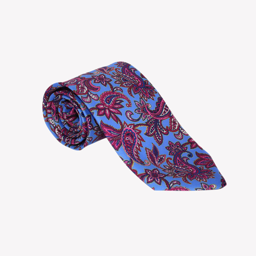 Light Blue with Paisley Tie