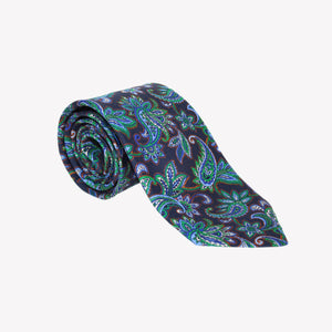 Navy with Paisley Tie