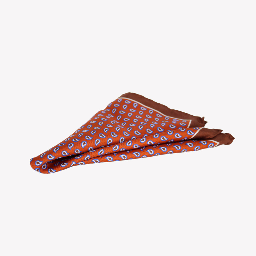 Fiery Orange Pocket Square