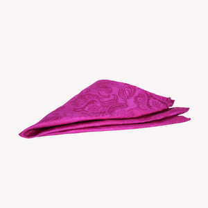 Hot Pink Paisley Pocket Square