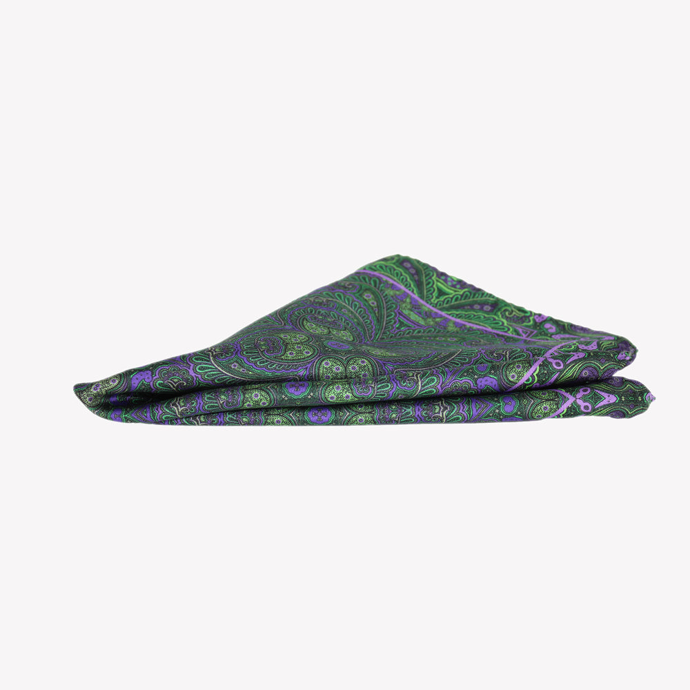 Forest Green Pocket Square