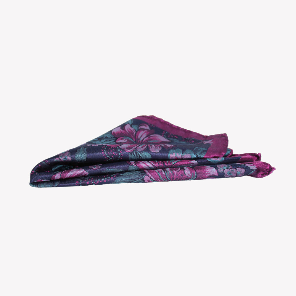 Purple Flower Pocket Square