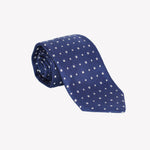 Blue with Solid White Squares Tie