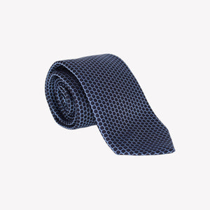 Black with Blue Negative Circles Tie