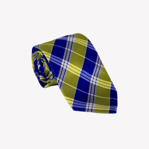 Yellow and Blue Stripe Tie