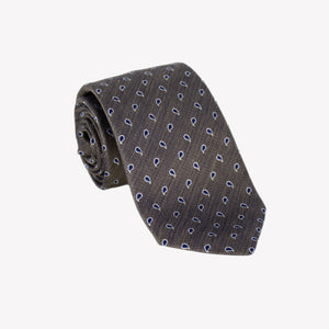 Brown with Navy Paisley Tie