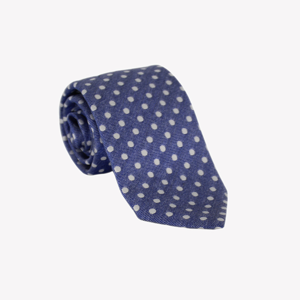 Navy Blue with White Polka Dots Tie