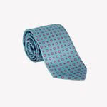 Aqua with Purple Flowers Tie