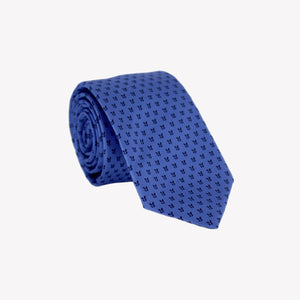Blue with Black Butterfly Wings Tie