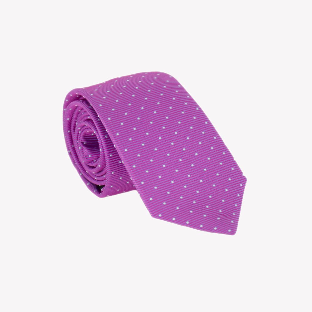 Purple with Polka Dots Tie