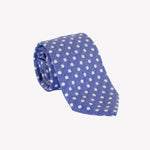 Blue with White Polka Dots Tie