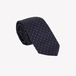 Black with White Polka Dots Tie