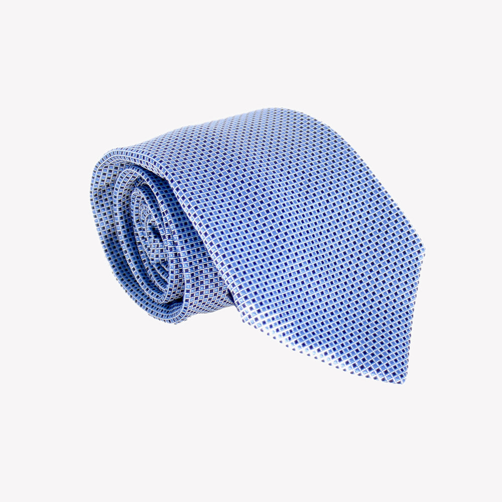 Light Blue and Dark Blue Pin Squares Tie