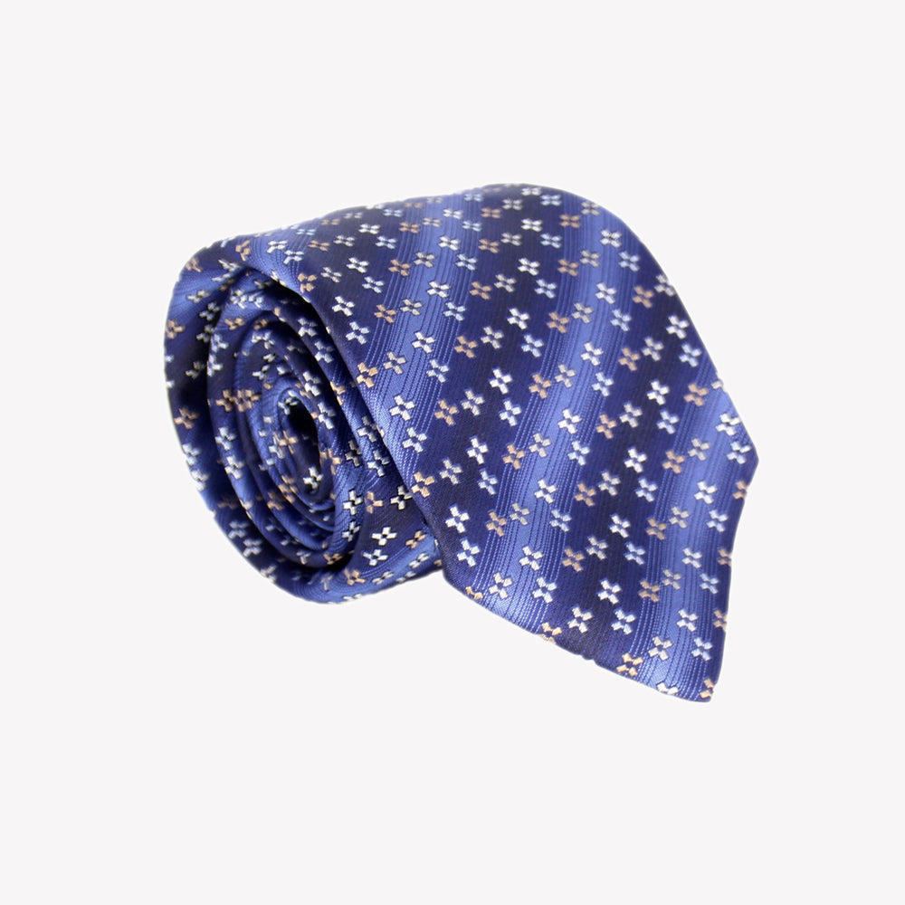 Blue with Stripe Tie
