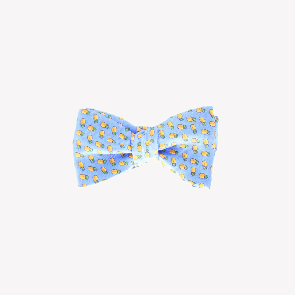 Light Blue with Pineapples Bowtie