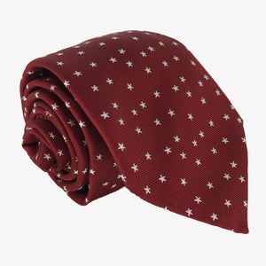 Burgundy with Stars Tie
