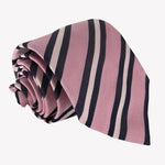 Baby Pink with Navy Stripes Tie